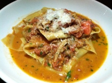 Pappardelle with veal breast